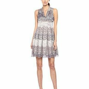 Vince Camuto Fit & Flare Gray Lace Dress